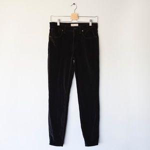"""Madewell 9"""" High-riser Skinny Skinny Velvet Pant"""